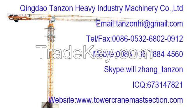 TCP6015-8(QTZ125P) 8t Flat Top Tower Crane