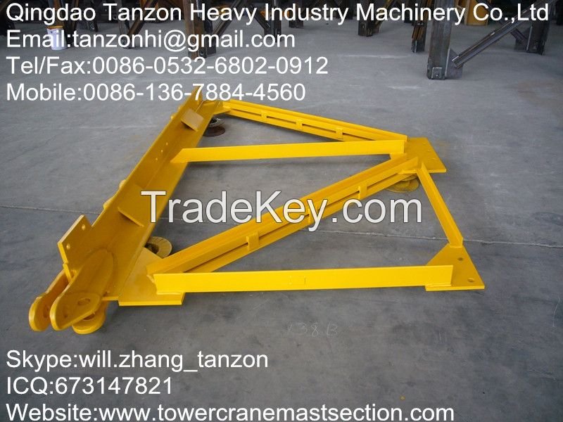 Q345B Steel tower Crane Spare Parts Mast Section