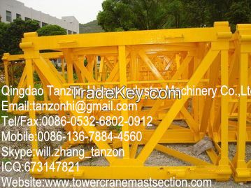 L68B1 Plate tower Crane Spare Parts / Tower Crane Mast Section