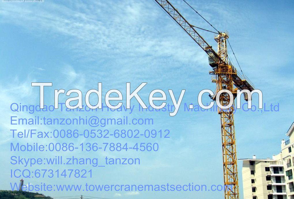 Self Climbing Tower Crane  Stone Bolt For Construction