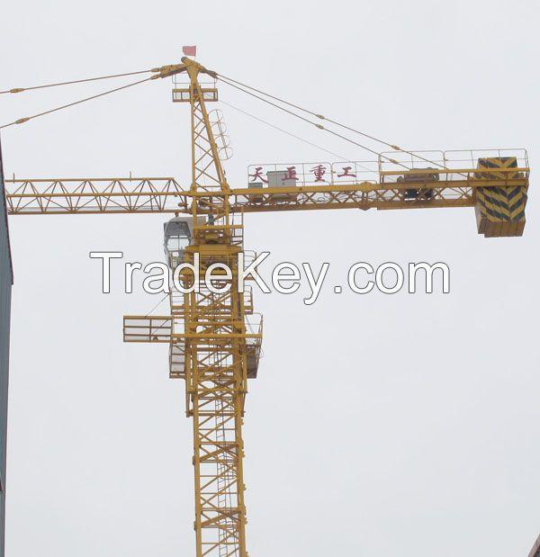 Self Climbing Tower Crane , 40m free standing TC6010-6 Q345B Steel