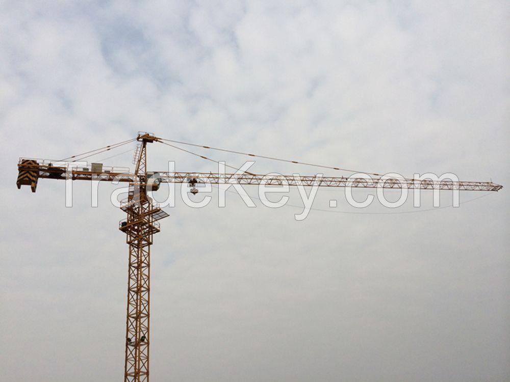 Steel Fixed Tower Crane 6 ton For construction TC5013-6 Jib 50m length