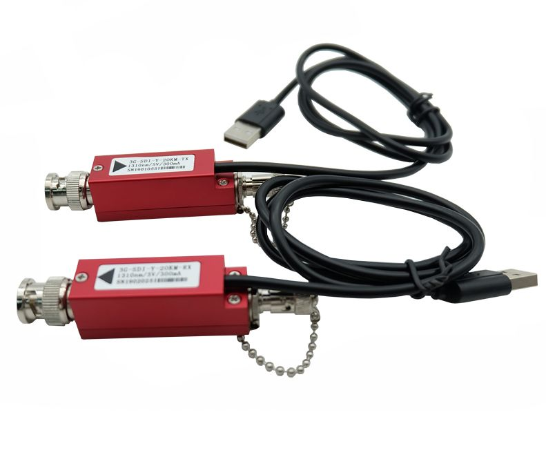 HD-SDI extender to fiber optic cable