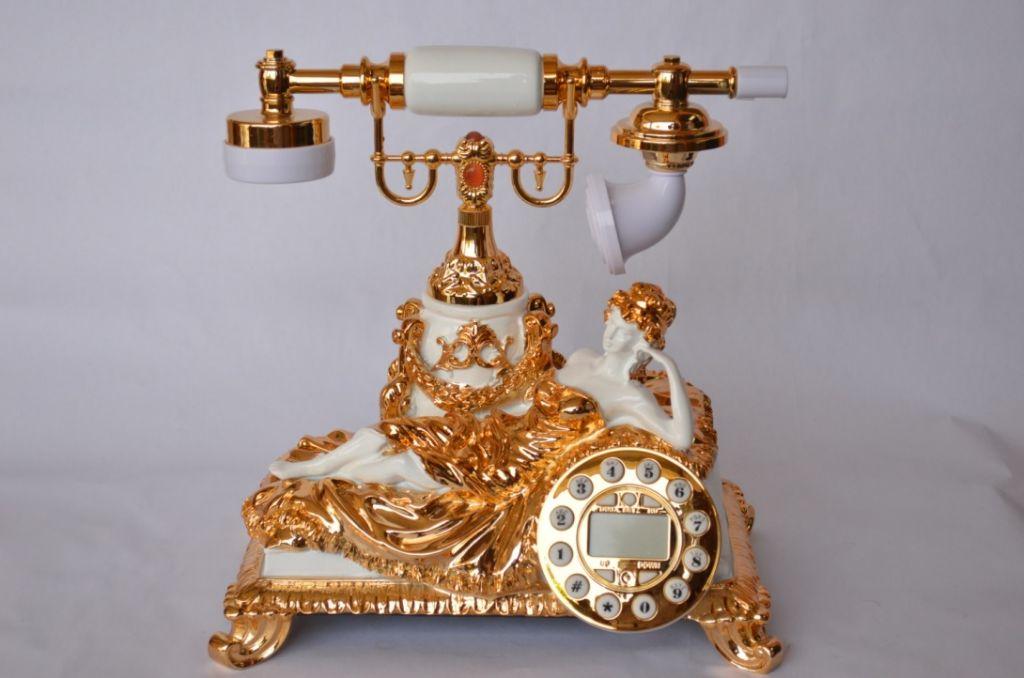 upmarket antique telephone