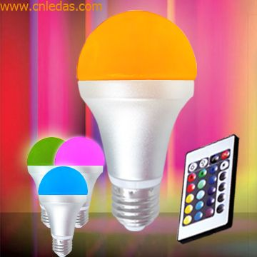 IR Remote Controlled 4.2W/E27 LED Mood Bulb Lights