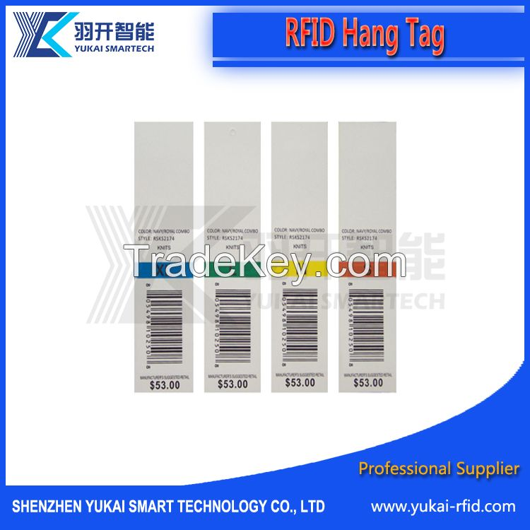 RFID UHF/HF smart Paper Hang tag(Garment, bag, Textile)