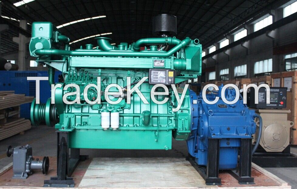 manufacturer of 400HP diesel marine engine with gearbox, 1800RPM, factory price