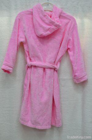 Yiwu pink kids cheap bathrobe