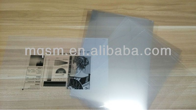 Clear and transparent 0.1mm waterproof inkjet plate making film