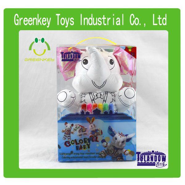 2014 Shantou Top DIY washable dupont tyvek color painting toy Dolls