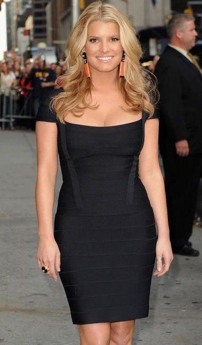 Miranda Kerr Red Square Neck Bandage Dress