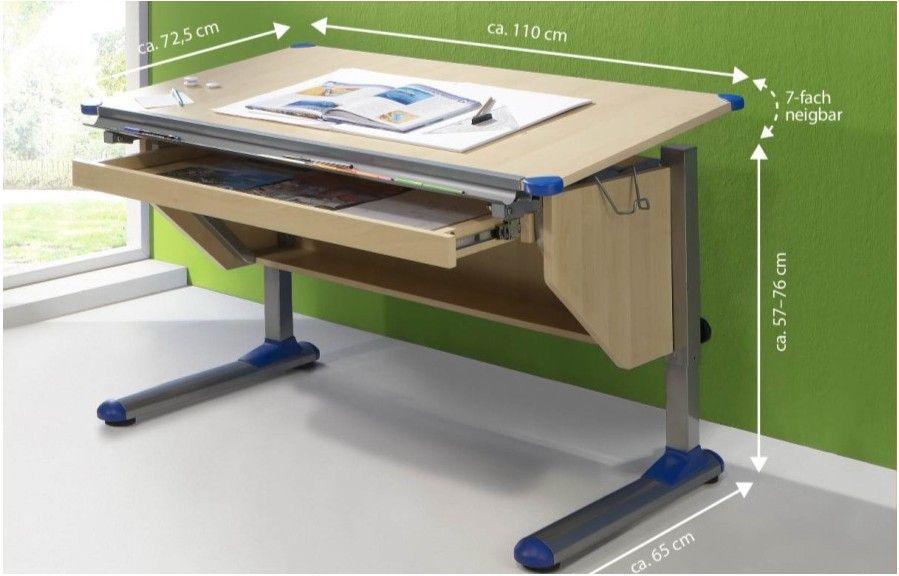 Adjustable height children desk