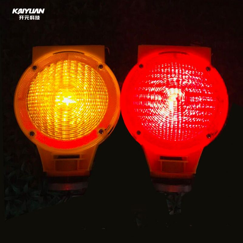 Factory price solar led yellow flashing traffic light for safety warning