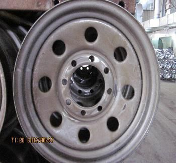 steel wheel trailer off-road