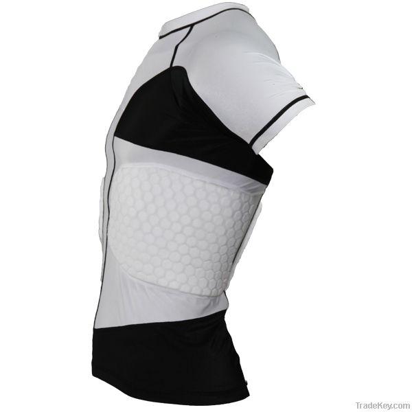 Anti-impact padded compression wear