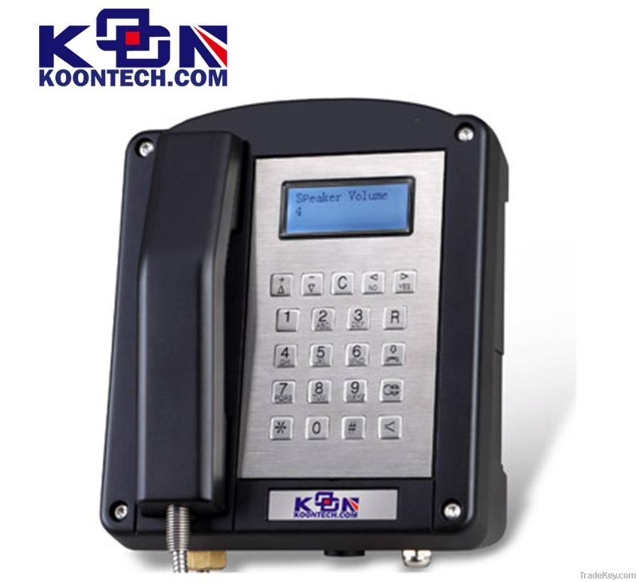 Oil and gas Explosion proof Phone KNEX1 IECEx Waterproof phone