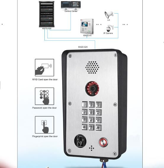 Hot selling outdoor rugged video intercom access contro