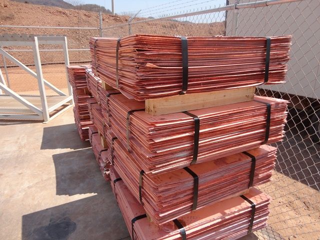 99.99% Grade 'A' Electrolytic Copper Cathode For Sale