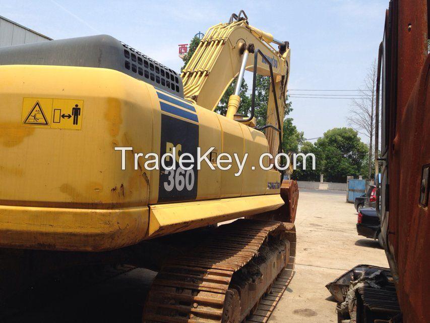 used excavator PC360-7, second hand komatsu excavator