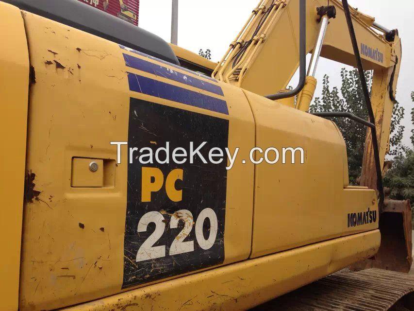 used excavator PC220-7, second hand komatsu excavator