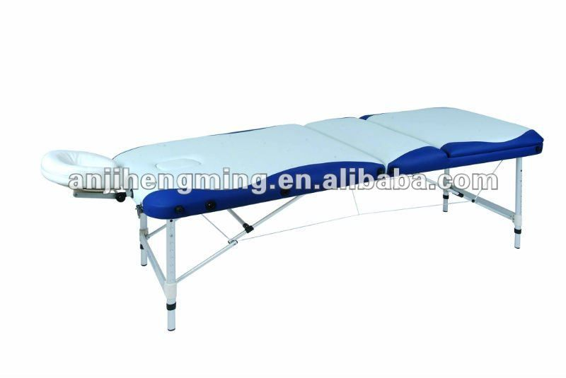 HengMIng 3-section white+blue portable massage bed