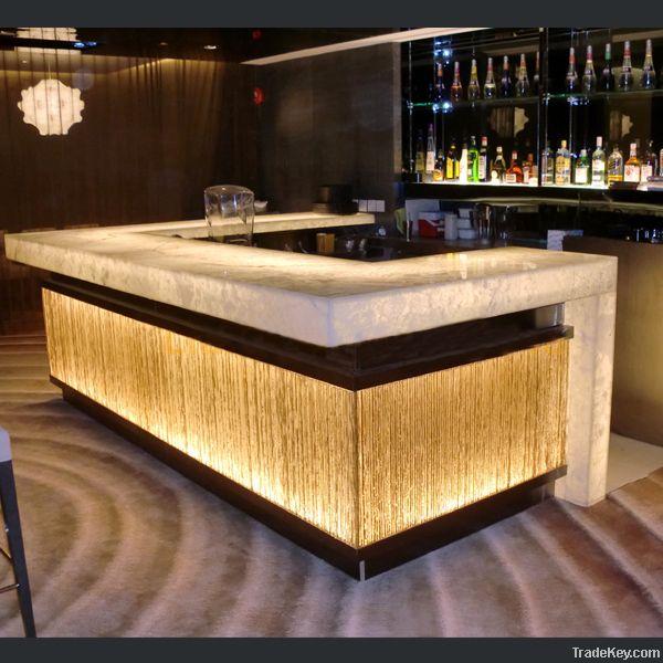 Artificial stone bar counter