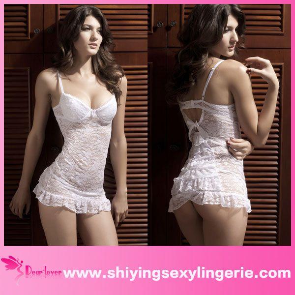wholesale white sexy ladies one piece night dress