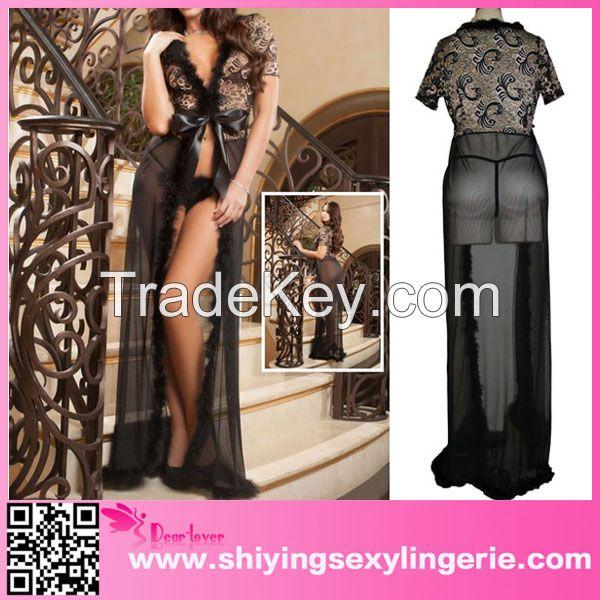 c52718e1e15 wholesale sexy plus size ivory fur trim glam night dress By Fujian ...