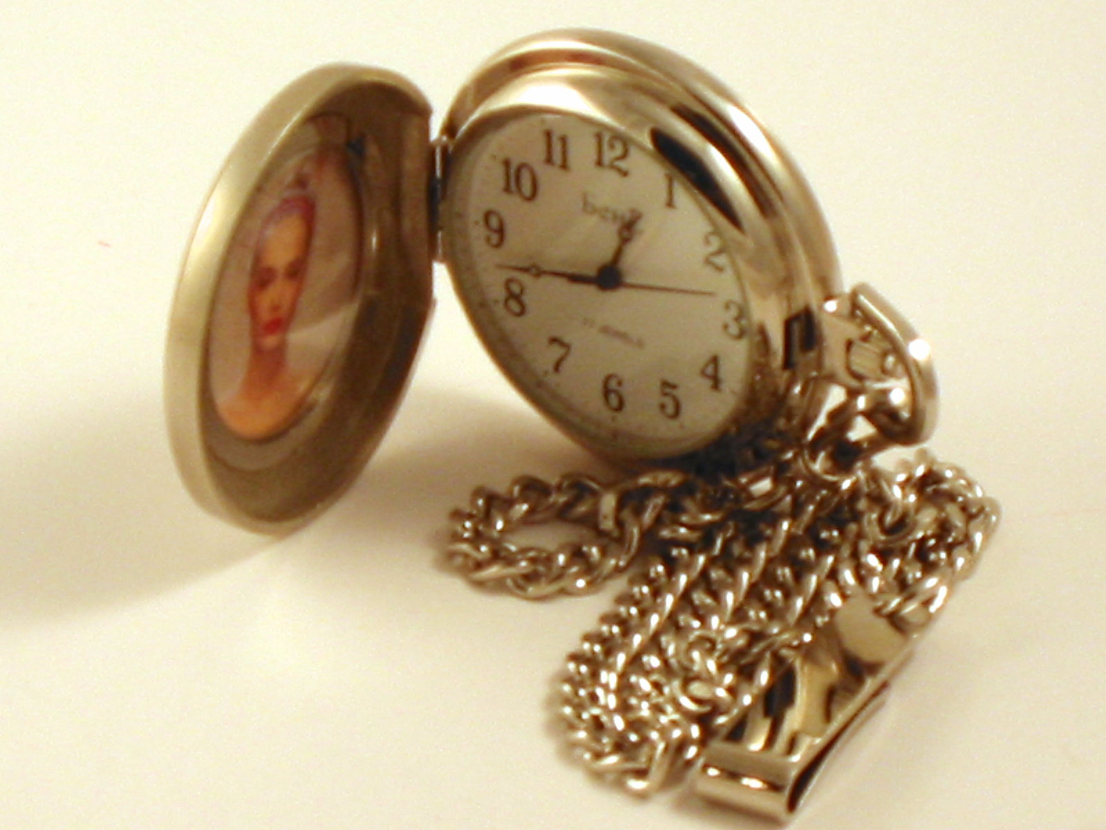 Men's Wind Up Photo Pocket Watch