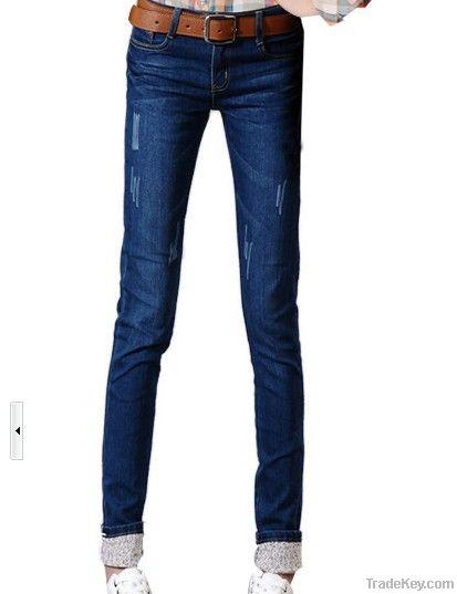new design lady jeans fashion long jeans