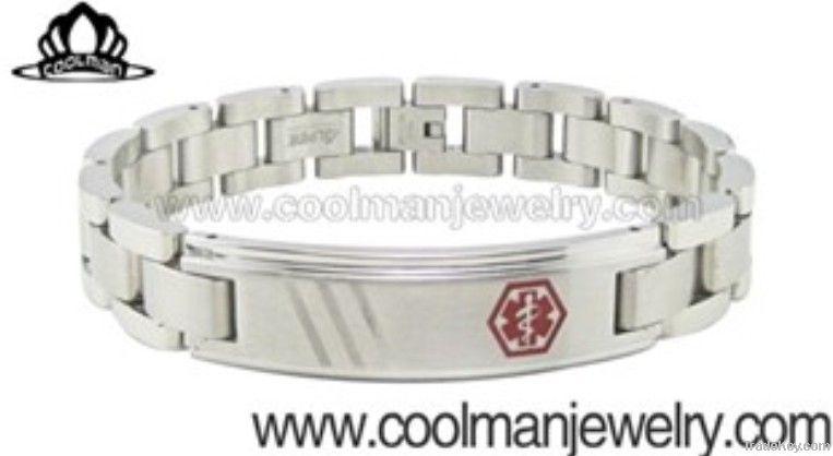 titanium  medical ID bracelet
