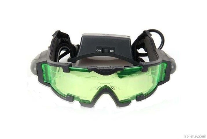 Night vision goggles with flip-out lights