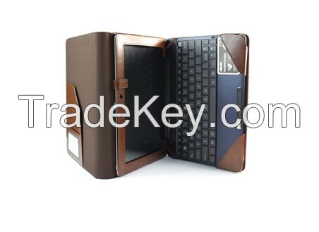 Brown Leather Keyboard Pouch Folio Stand Case Cover for ASUS Transform