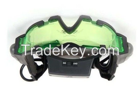 Portable Anti-Slip Binocular Night Vision Goggle With Flip-Out Lights