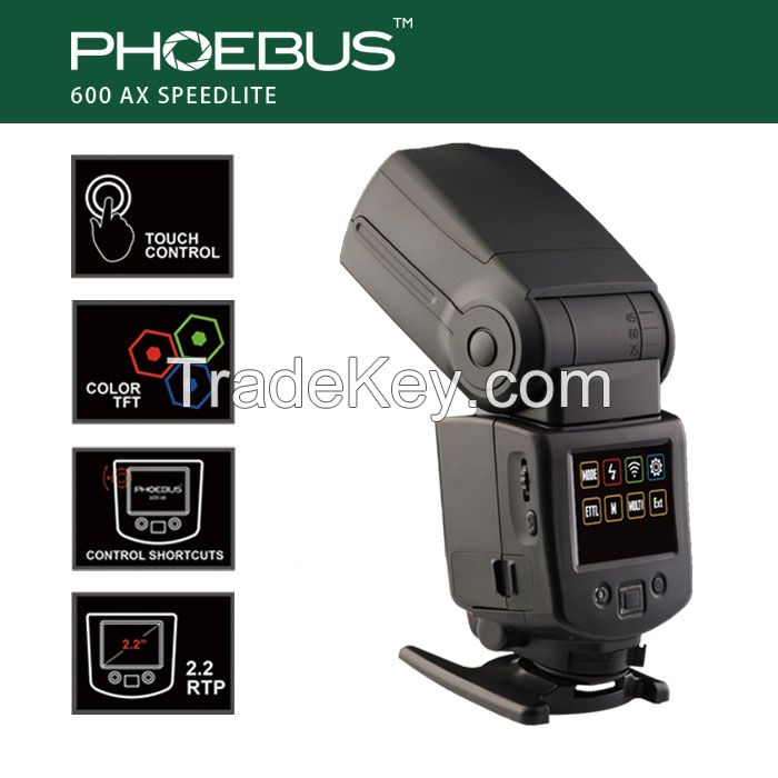 Phoebus New Touch Control Speedlite for Canon/Nikon Camera