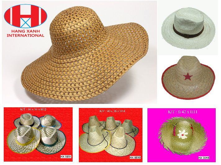 Straw hat, Palm leaf hat, Seagrass Hat, Vietnam Viet nam Vietnamese Handicraft Product,