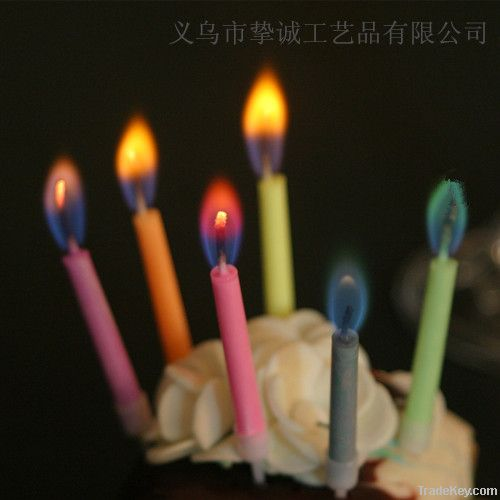 color flame birthday candles for party