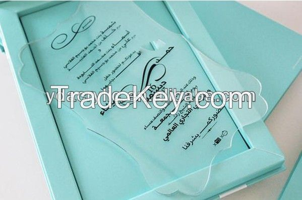 Acrylic Wedding Invitation Card  in manufacture wholesales in low price