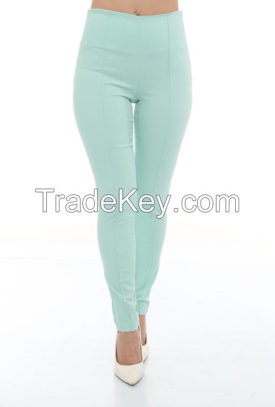 skinny high waist trousers for women