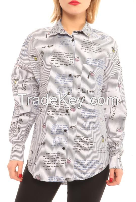 Women Casual Shirts with Long Sleeves With Prints