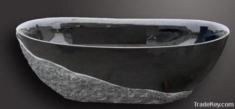 Shanxi Balck Granite oval bathtub