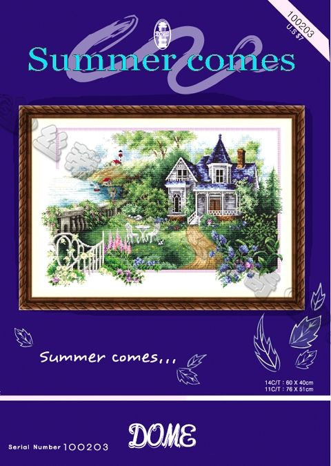 DOME cross stitch kit for summer village