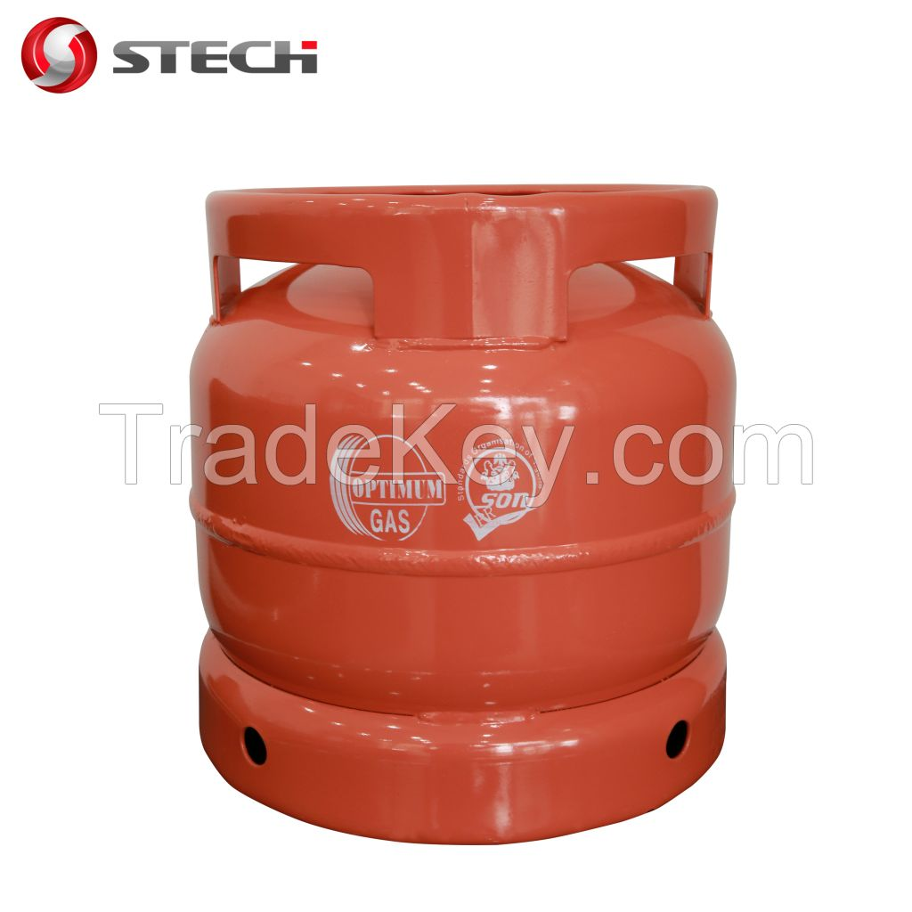 6 kg portable LPG Cylinder bottle plant heater  for camping cooking  Africa Nigeria Ghana Mauritania Tanzania