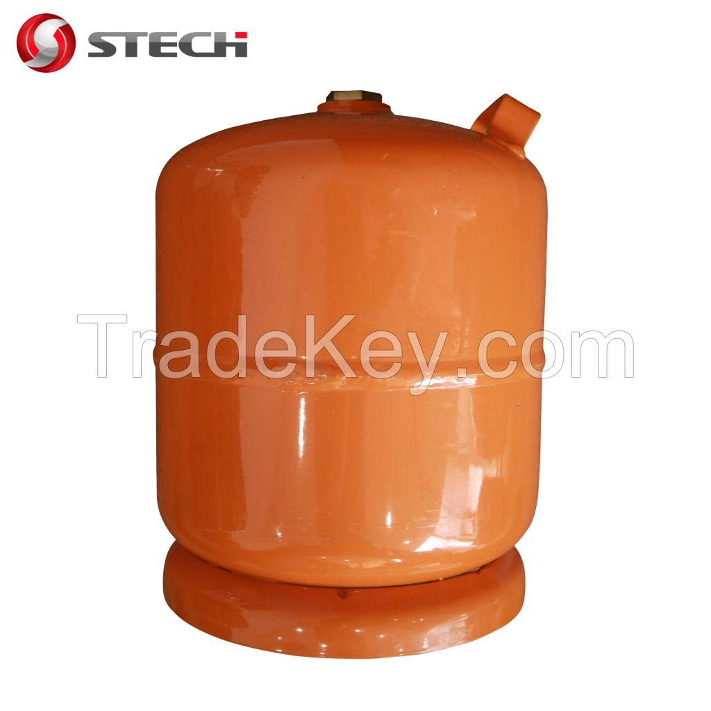 3kg portable refilled LPG cylinder for cooking camping in Africa
