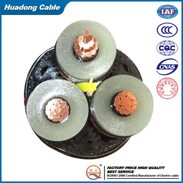 voltage up to 35KV underground XLPE copper armoured Power cable