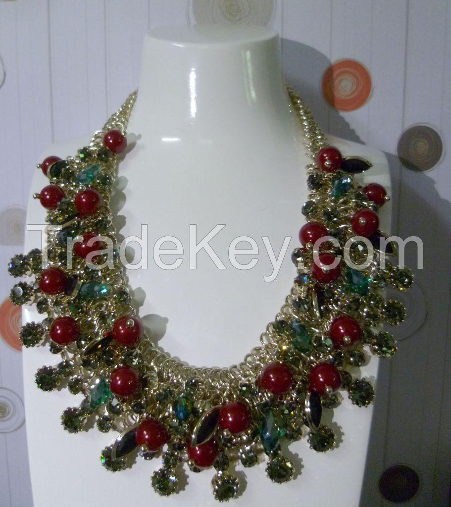 Elegant necklaces(14K+diamond)