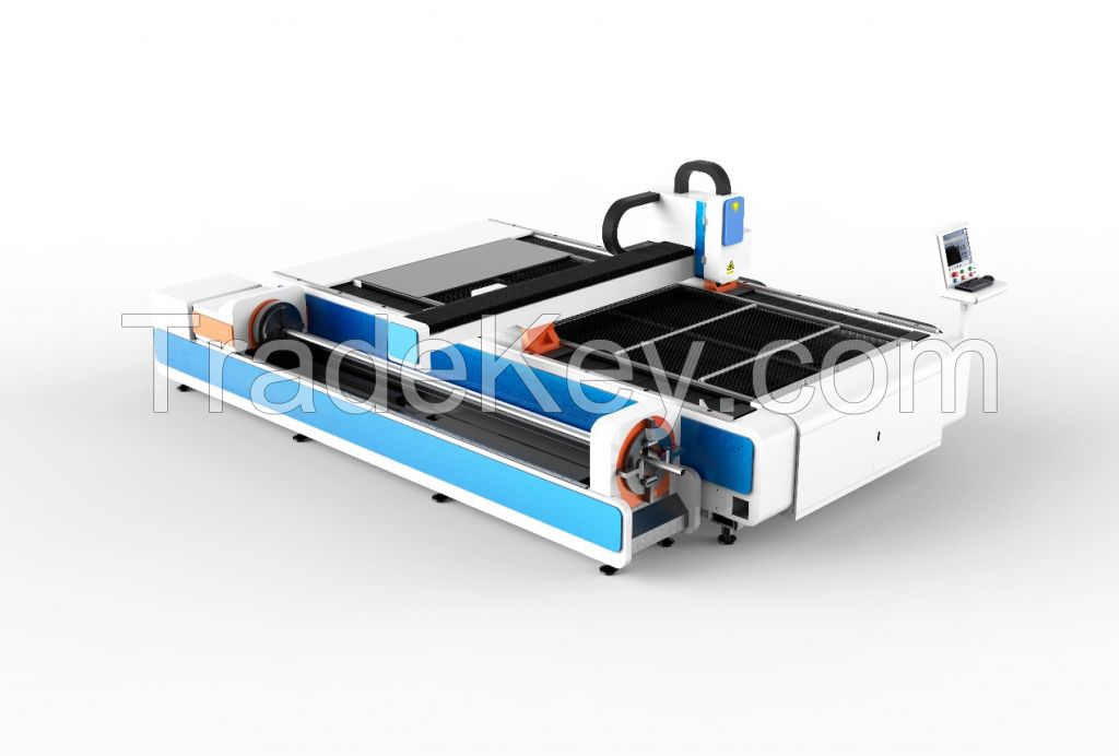 GZ1530H1 Fiber Laser Cutting Machine for both tube and plates cutting