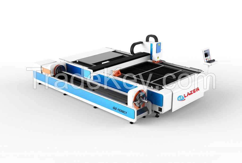 GZ1530C1 Fiber Laser Cutting Machine for both tube and plates cutting