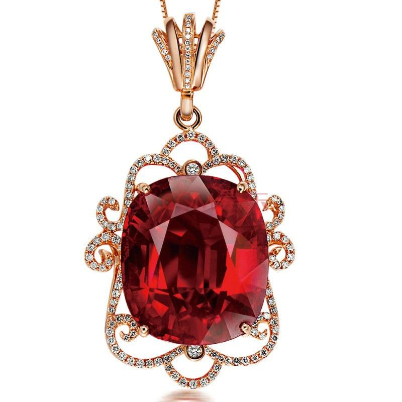 925 Sterling Silver Created Ruby Pendant Gemstorne Jewely Wholesale