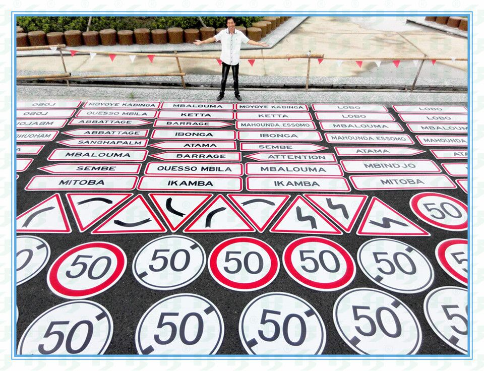 reflective road safety sign board, road signage, road symbol, road sinal made in China